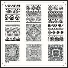 MoYou Nail Fashion Stamping Nail Art Image Plate 521 Ethnic Style Ornate Beauty