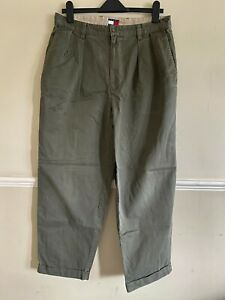 TOMMY HILFIGER Khaki Green Trousers, 33 30