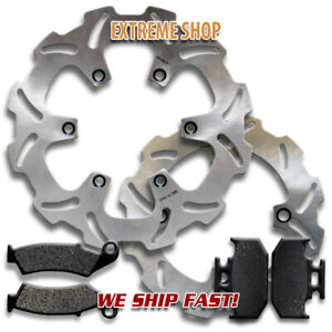 Front + Rear Quality Brake Disc Rotors + Pads for Suzuki DR650 S/SE (1996-2020)