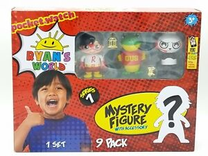 Ryan's World 9 Pack Set Mystery Figure With Accessory (Series 1) - New FREE P&P