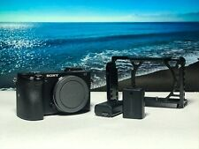 Sony Alpha a6500 24.2MP Digital Camera - Black (Body Only) with SmallRig cage