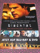 BLACKHAT-Poster/Plakat-CHRIS HEMSWORTH-Michael Mann-KULT-Heimkino-Dekoration