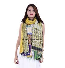 Vintage Silk Kantha Scarf Women Handmade Indian Neck Wrap Patch Ethnic Shawl