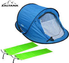POP UP Tent with 2Pcs self inflatable Air Mattress