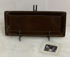 Longaberger Pottery Woven Traditions Tasting Tray Brown Serving New