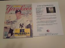 Joe Dimaggio Autographed Magazine. New York Yankees Old Timer's DAY July 13/85