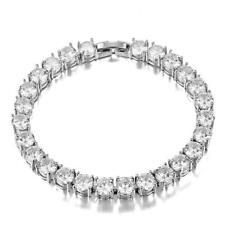 Exquisite Romantic 925 Silver White Zircon Crystal Bracelet !!