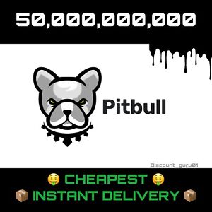 50 Billion Pitbull (PIT) 🤑CHEAPEST🤑- Crypto Currency, INSTANT DELIVERY 📦