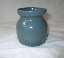 "Bybee Pottery 3.5"" Hand-Made Jar Speckled Green Glaze"