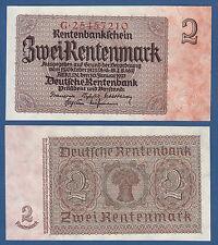 2 Rentenmark 1937 KASSENFRISCH / UNC  P.174b / Ro.167 b