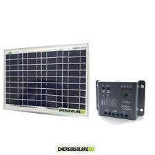Kit Solare Fotovoltaico 10W 12V Regolatore PWM 5A Epsolar Camper Casa Nautica Il