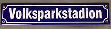 Emailleschild Volksparkstadion Emaille Schild Straßenschild 40x8 cm Emaile HSV