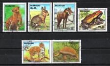 Paraguay 1990 faune sauvage (106) Yvert n° P. Aérienne 1157 à 1161 oblitéré used