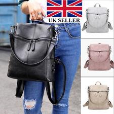 84cf31a4b1 UK Women s Leather Backpack Anti-Theft Rucksack School Shoulder Bag