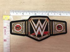 WWE Wrestling Title Championship Belt WWF Logo embroidered Iron on Patch