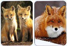 Red fox fridge magnet 2 pcs