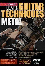 """LICK LIBRARY-GUITAR TECHNIQUES:METAL"" KIRK HAMMETT-STYLE LICKS-DVD-SEALED SALE!"