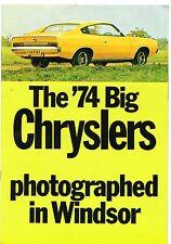 Chrysler Australia Valiant Regal Charger CH 1973-74 UK Market Sales Brochure