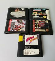 Lot Of 5 Sega Genesis Games NFL NBA Jam Holyfield Boxing Arch Rivals UNTESTED