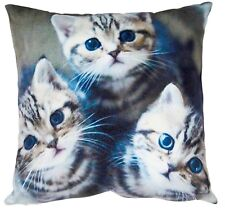 Animal Image Cat Kitten Cushion Sofa Settee Chair Square Cushions Pet Picture