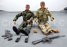 Vintage Lot of 2 Mixed Military Action Figures + Weapon MAC ES Toys GI Joe