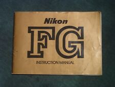 Nikon FG Instruction Manual Book Used