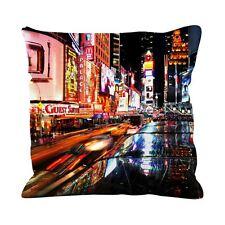 New york times square en soie synthétique 45cm x 45cm canapé coussin-usa amérique