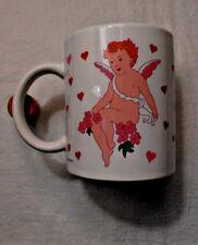 """Brite Ideas Vintage """"Happy Valentine's Day"""" Mug w/ Cherubic Cupid"""