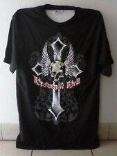 "HEAVEN AND HELL ""Skull and Cross"" official t.shirt-unworn M-DIO,BLACK SABBATH"