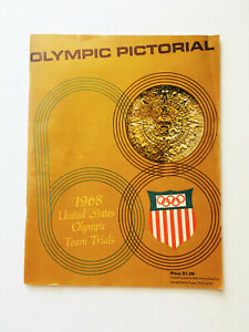 Authentic Rare Vintage 1968 Olympic Pictorial US Olympic Team Trial Magazine