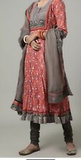 Bollywood/Indian/Pakistani Ethnic Party Wear Peach Cotton Floral Anarkali 3 Pc