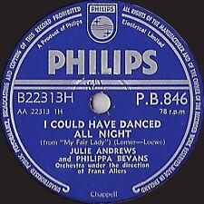 Selten Julie Andrews 78 I Could Have Danced All Night / Ohne Du Pb 846 V E