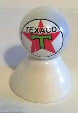 TEXACO BIG RED STAR GASOLINE LOGO ON WHITE PEARL MARBLE