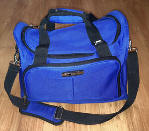 Delsey Blue Canvas Carry-On Duffle Travel Bag Gym