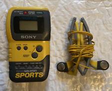 Sony SRF-M70 Walkman Sports AM/FM Portable Radio w/ Headphones *GOOD*