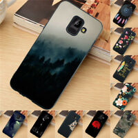 For Samsung Galaxy A5 A6 A7 A8 Plus A9 2018 Case Silicone Painted Slim TPU Cover
