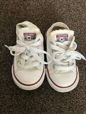 Converse White Infant Size 6 Trainers White