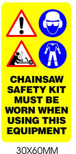 Pictogram Label Warning Chainsaw Sticker Safety Images All Saws Including STIHL