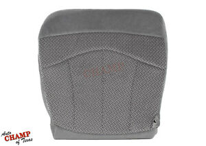 1999-2003 Ford F150 XLT - Driver Side Bottom Replacement Cloth Seat Cover Gray
