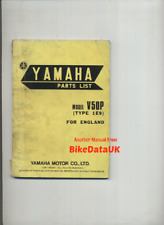 Yamaha V50P (76-77) Original Parts List Catalogue Manual Book V 50 1E9 517 CR42