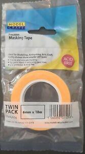 Model Craft 6mm X 18m Masking Tape Twin Pack