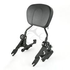 Passenger Backrest Sissy Bar & Four Point Docking Kit For Harley Touring 09-13