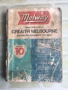 Street Directory Of Greater Melbourne - MELWAY - 1977 - Edition 10 SoftCover