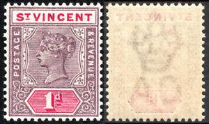 St Vincent 63, MvLH. Victoria, 1898