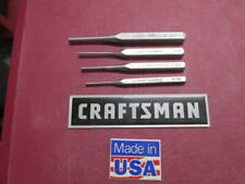 "4 VINTAGE CRAFTSMAN CENTER PUNCHES, 3/32"", (2) 1/8"", 3/16"" ~ ALL MADE IN U.S.A."