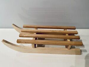 Schlitten Holz Deko Weihnachten Winter Advent Dekoration 15 cm Geschenk Idee