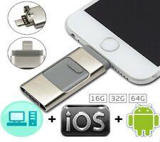 OTG 3 in 1 Flash Drive USB 3.0 Memory Stick OTG For iPhone 6 7 8 Plus X XS 64GB
