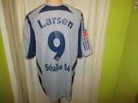 FC Schalke 04 Original Adidas Ausweich Trikot 2005/06 + Nr.9 Larsen Gr.XL