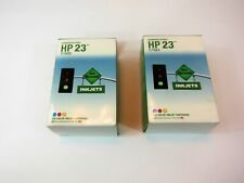 2 New Remanufactured Focus - HP 23 / C1823 Tri Color Inkjet Cartridge -