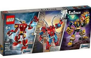New LEGO Marvel Super Heroes Pack 3 in 1 Included Iron Man,Thanos & Spider-Man